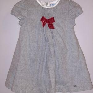 Mayoral Baby Girls Gray Smocked Dress 24 Months